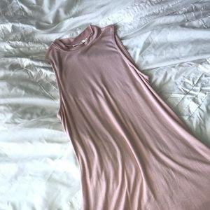 Pink tank tee shirt dress